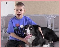Четвероногий доктор лечит омских ребятишек с самыми тяжелыми заболеваниями.