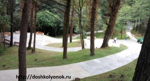 Отдых в Сочи. На Вишнёвой улице крыши домов вишнёвого цвета (часть 3)